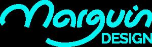 logo marguin design cyan